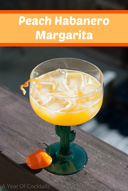 margarita, national margarita day, tequila, peach habanero margarita