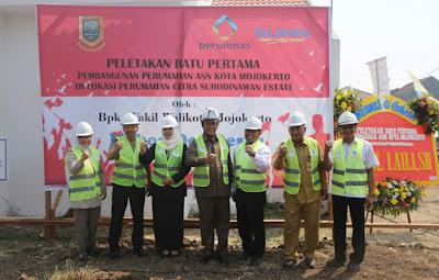 Wawalikota Suyitno Lakukan Peletakan Batu Pertama Perumahan ASN Satya Bahagia