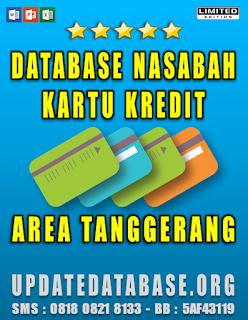 Jual Database Nasabah Kartu Kredit Tanggerang