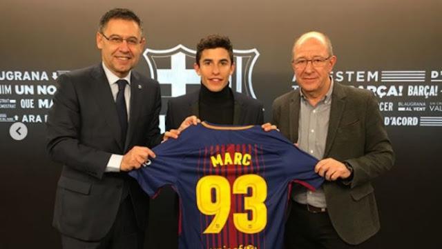Jelang GP Qatar, Marc Marquez Gabung Jadi Pemain Anyar Barcelona?