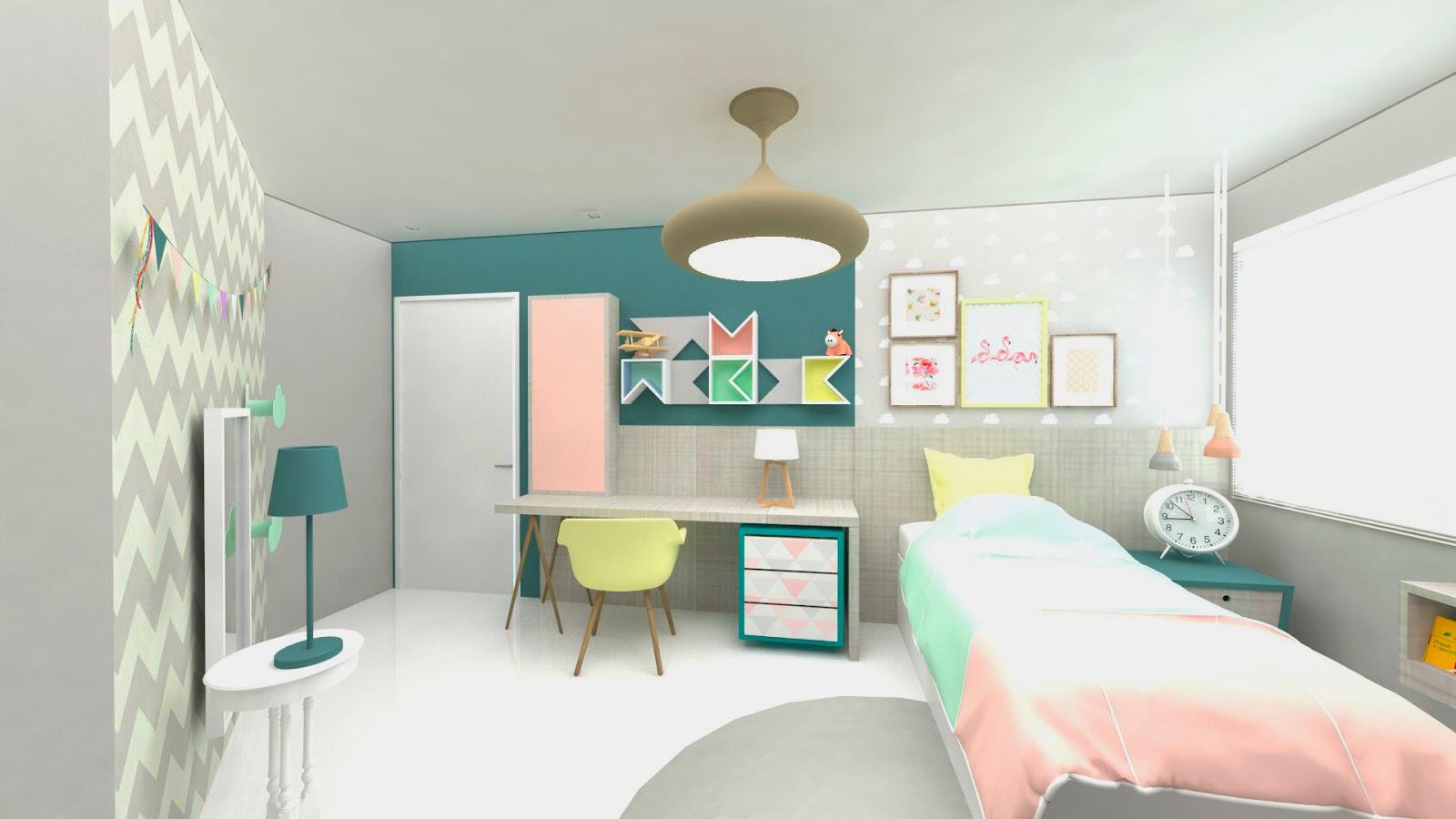 Quarto Infantil Candy Colors Arquiteta Catarina Loder ~ Bancada Quarto Jovem E Quarto Rustico De Bebe