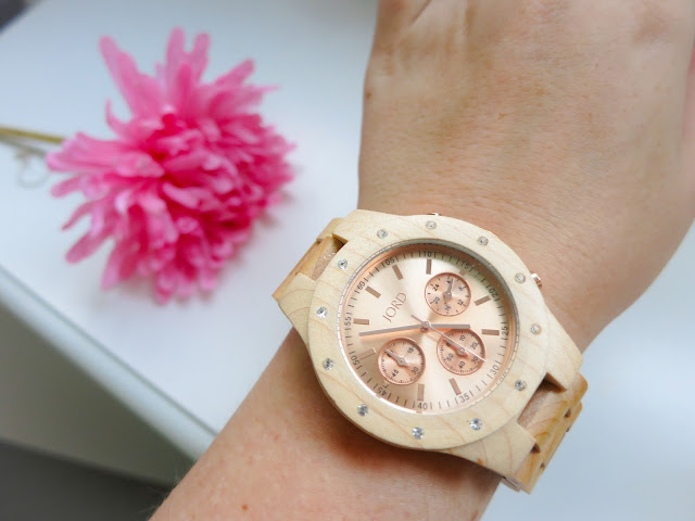 Jord Wood Watch in Sidney Maple and Rose Gold