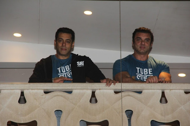 Salman Khan and Sohail Khan Snapped From Galaxy Apartments