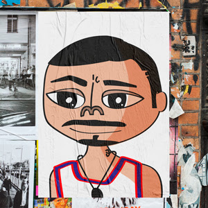 Caricatura de Rene Pérez Joglar :: Residente