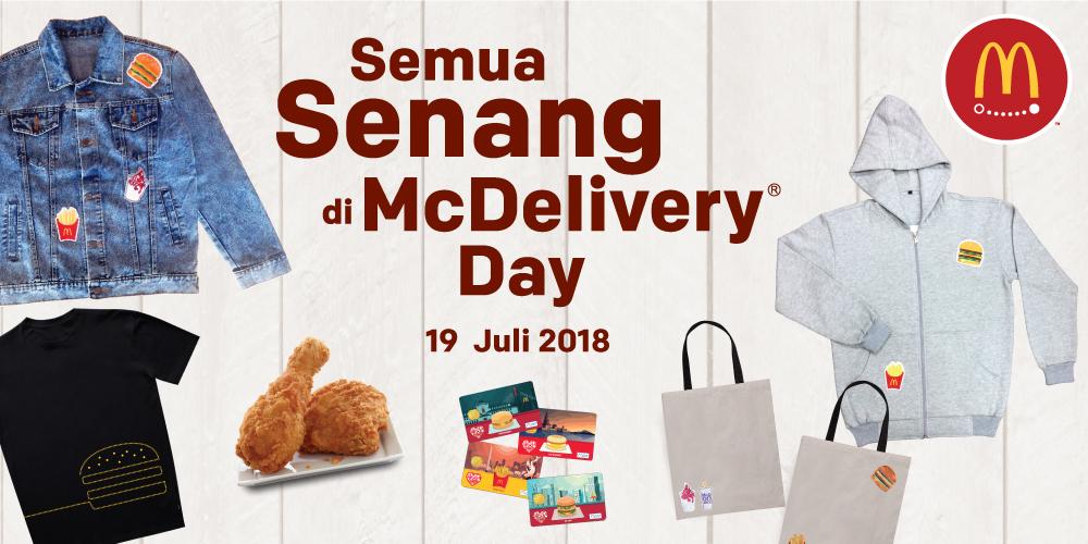 MCDonald's - Promo Semua Senang di McDelivery Day 19 Juli 2018