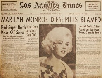 marilyn monroe barbitúricos barbiturates overdose death unclad body of star found on bed near empty capsule bottle