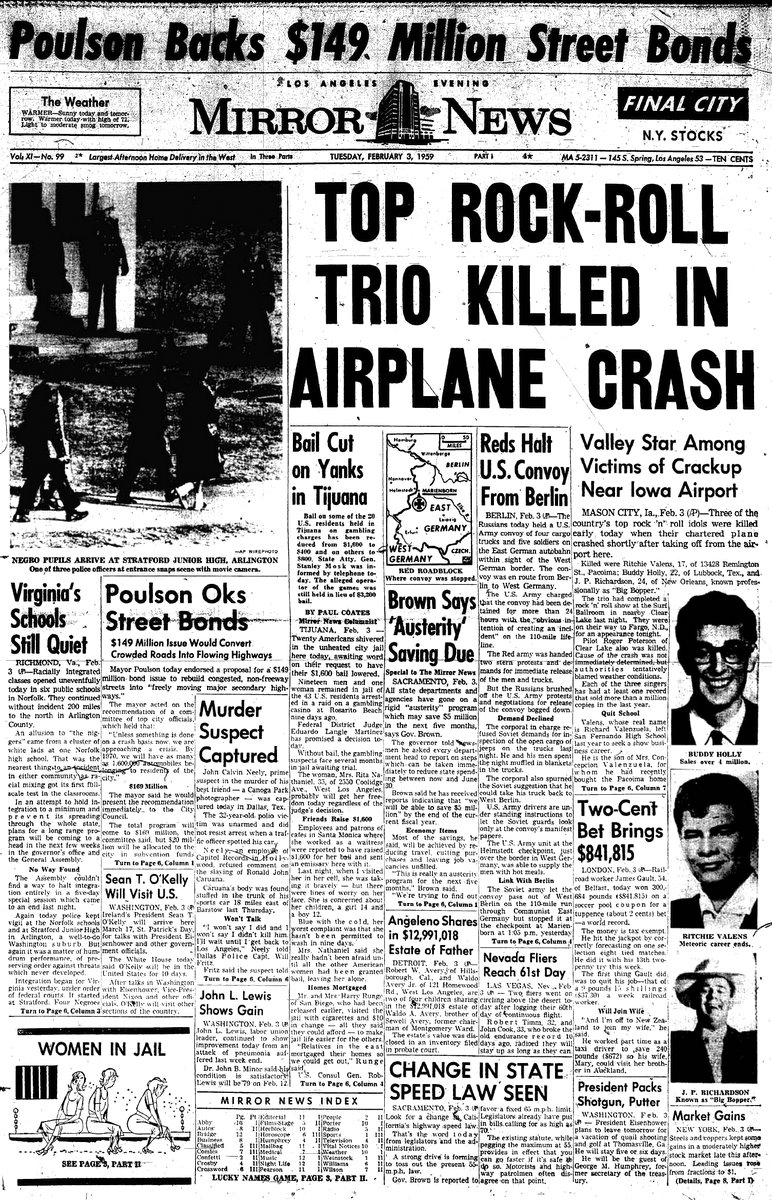 musicians that died in a plane crash