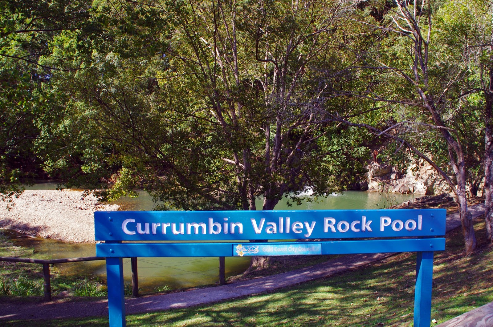 Currumbin Valley Rock Pools Sign