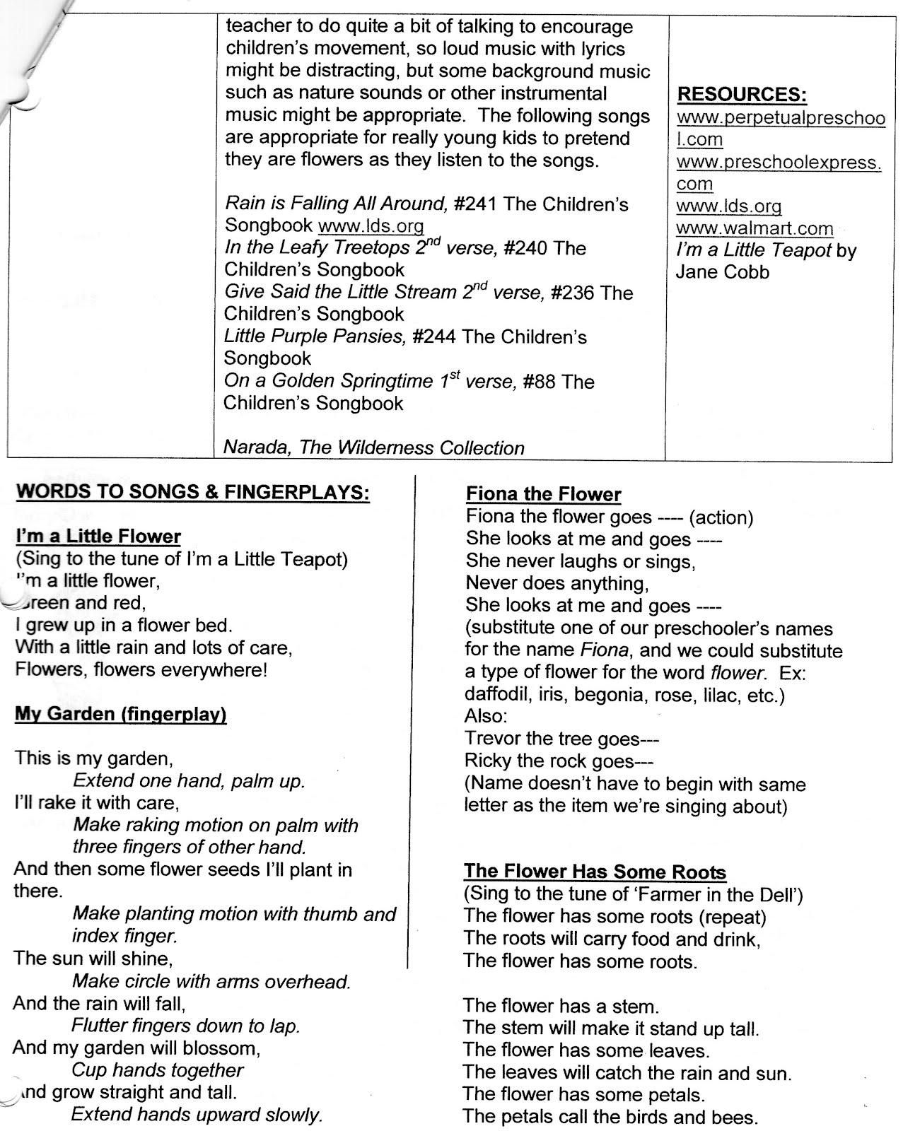 Kiersi S Kids Preschool Preschool Dance Lesson Plans