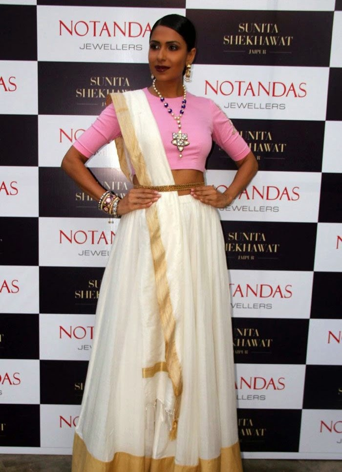 Candice Pinto, Karisma Kapoor at Sunita Shekhawat Jewellery Launch