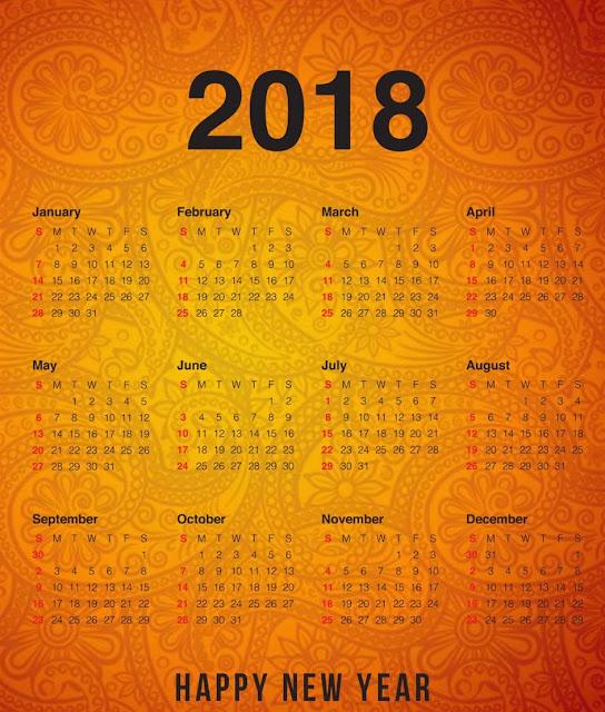 New Year Pocket Calendar