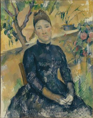 Paul Cezanne -Madame Cezanne,1891.