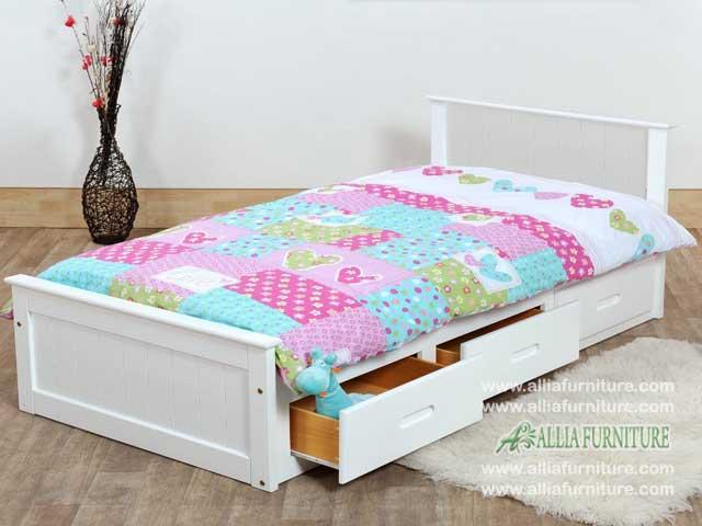 tempat tidur laci minimalis snow