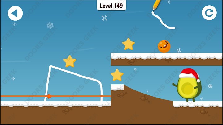 Where's My Avocado? Level 149 Solution, Cheats, Walkthrough, 3 Stars for Android, iPhone, iPad and iPod