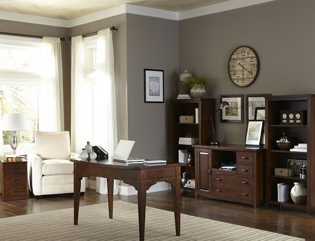 best solid wood home office desk setups traditional design