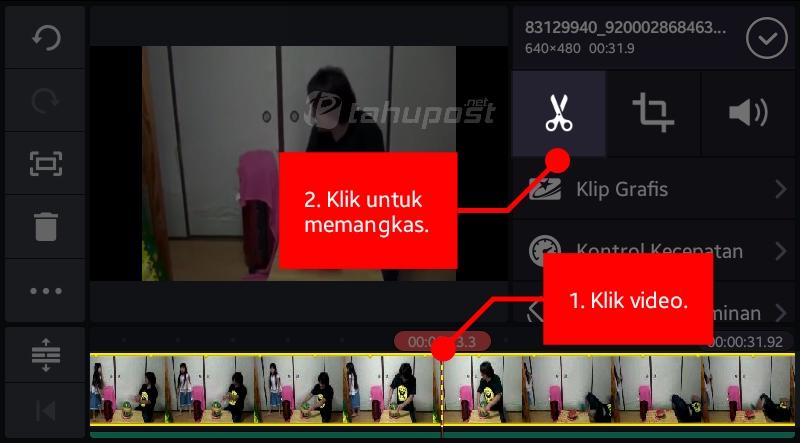 Cara Memangkas, Memotong Video di KineMaster