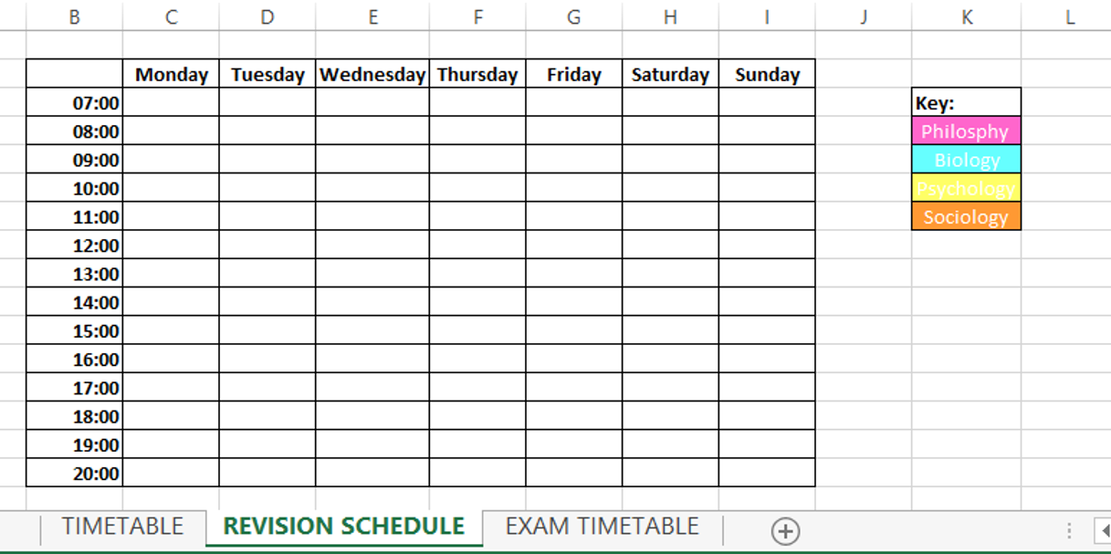 How To Balance Life And Blogging revision schedule ideas organisation college school