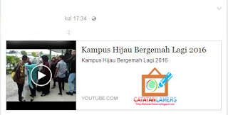 Optimasi Tampilan Youtube saat dishare Ke Facebook