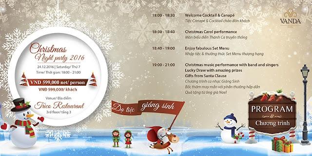 Dạ tiệc đón Giáng sinh tại khách sạn Vanda Hotel