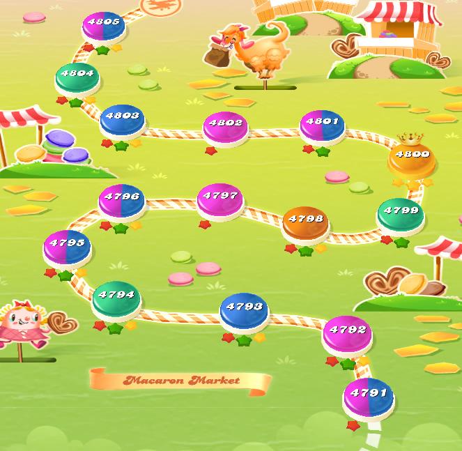 Candy Crush Saga level 4791-4805