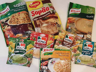 8 packets of Brazilian soups