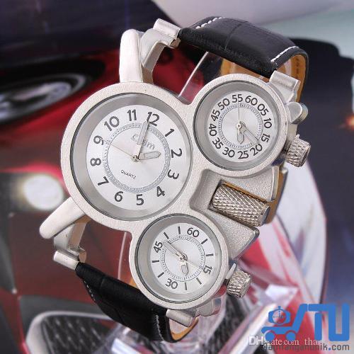 OULM 1167 Steampunk J9 triple time jam tangan unik