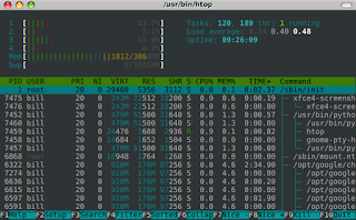 monitoring linux htop