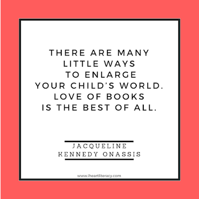 There are many little ways to enlarge your child's world. Love of books is the best of all.  -Jacqueline Kennedy Onassis #books