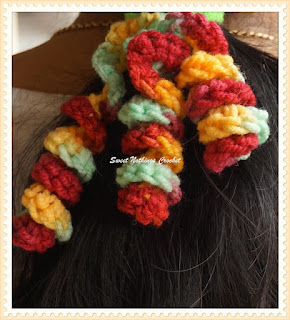 Sweet Nothings Crochet curly wurly scrunchies for hair