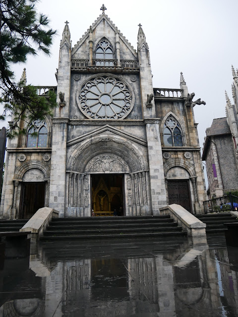 St. Denis Church at french village ba na hills vietnam