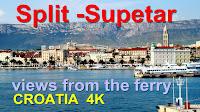Trajekt Split - Supetar 4K rezolucija slike otok Brač Online