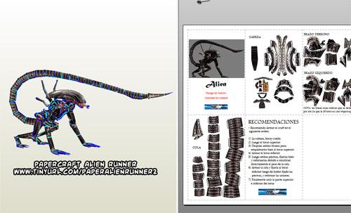 Ninjatoes' papercraft weblog: D/L #papercraft Alien Runner:
