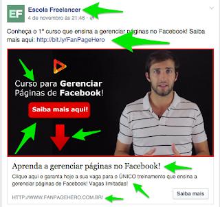 exemplo de anuncios que convertem facebook