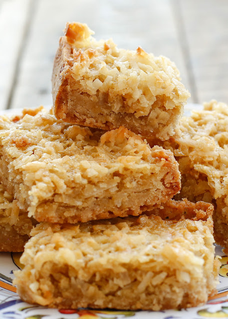 Coconut Chews - traditional and gluten free recipes at barefeetinthekitchen.com