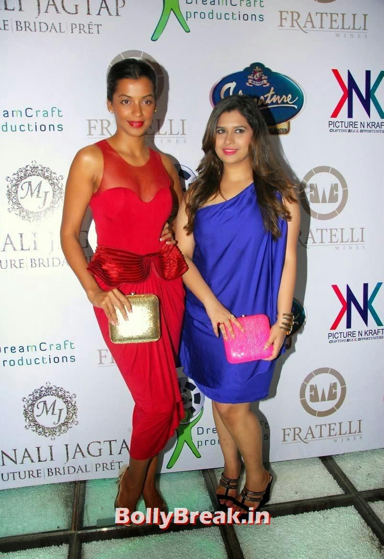 ,  Mugdha Godse Pics in Red Dress at  Clutch Closet Launch