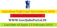 Rajasthan High Court Recruitment 2018– 2309 Class-IV