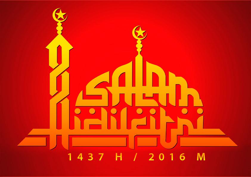 Kumpulan Desain Background Ucapan Selamat Idul Fitri 1437