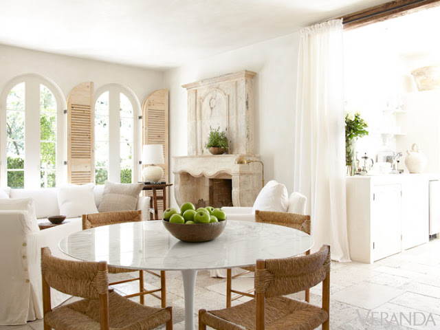 image result for Pam Pierce beautiful white French farmhouse Swedish dining and living room