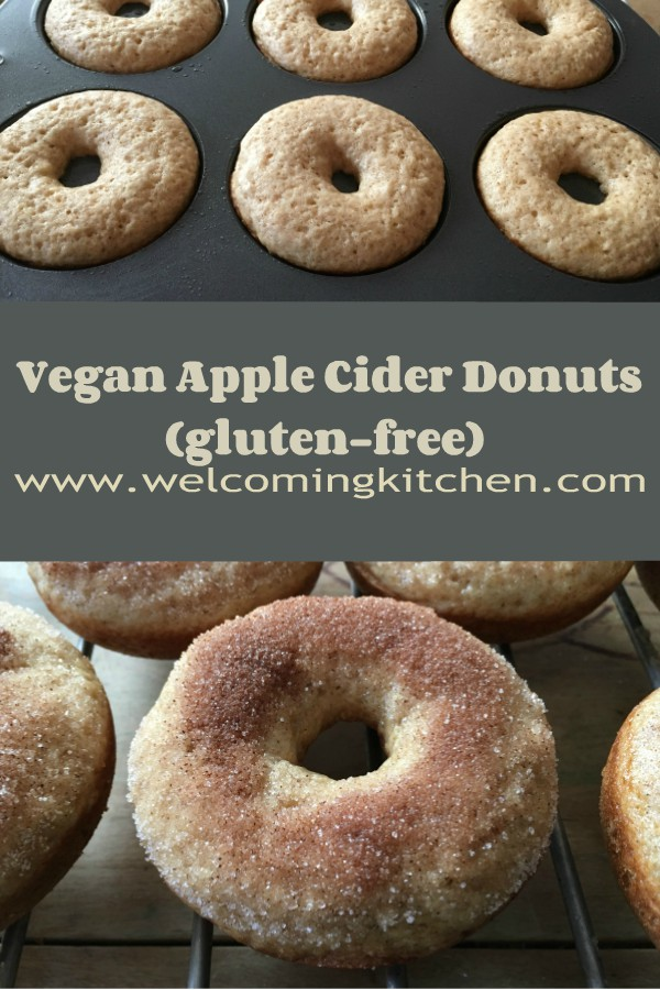 Vegan Apple Cider Donuts (GF) - www.welcomingkitchen.com