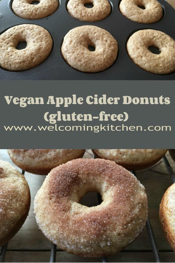 Vegan Apple Cider Donuts (GF) - www.welcomingkitchen.com