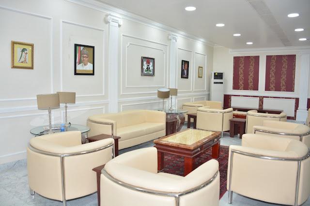 Bashir Ahmad says Buhari is working as he shares pics of renovated Airport lounge