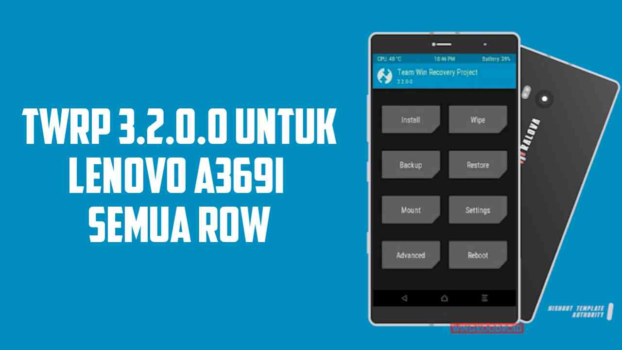 UPDATE TWRP Recovery 3.2.0.0 Lenovo A369i