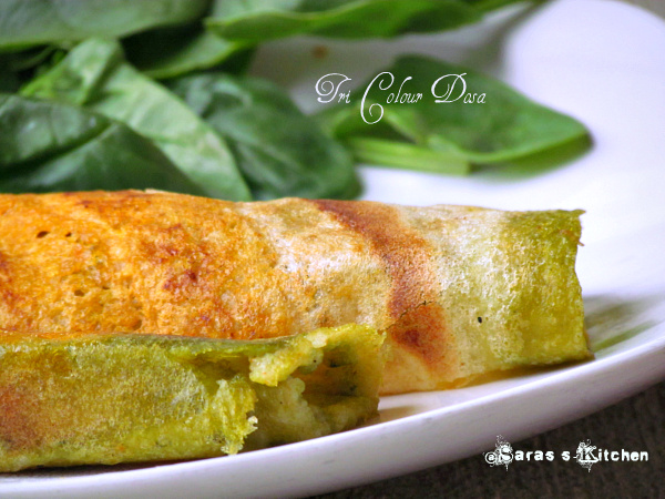 Healthy Tricolour Dosa ~ Independence day special