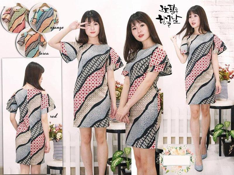 Jual Baju Batik Batik Dress Khanza - 13498