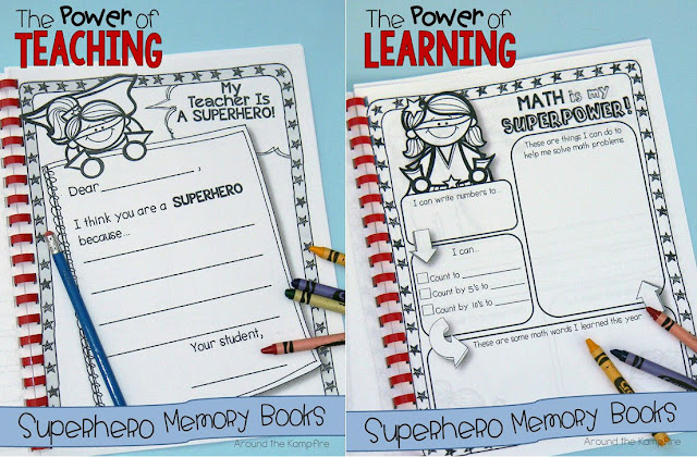 Superhero memory books