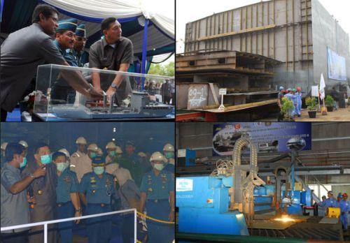 Wamenhan resmikan pembangunan 3 kapal perang