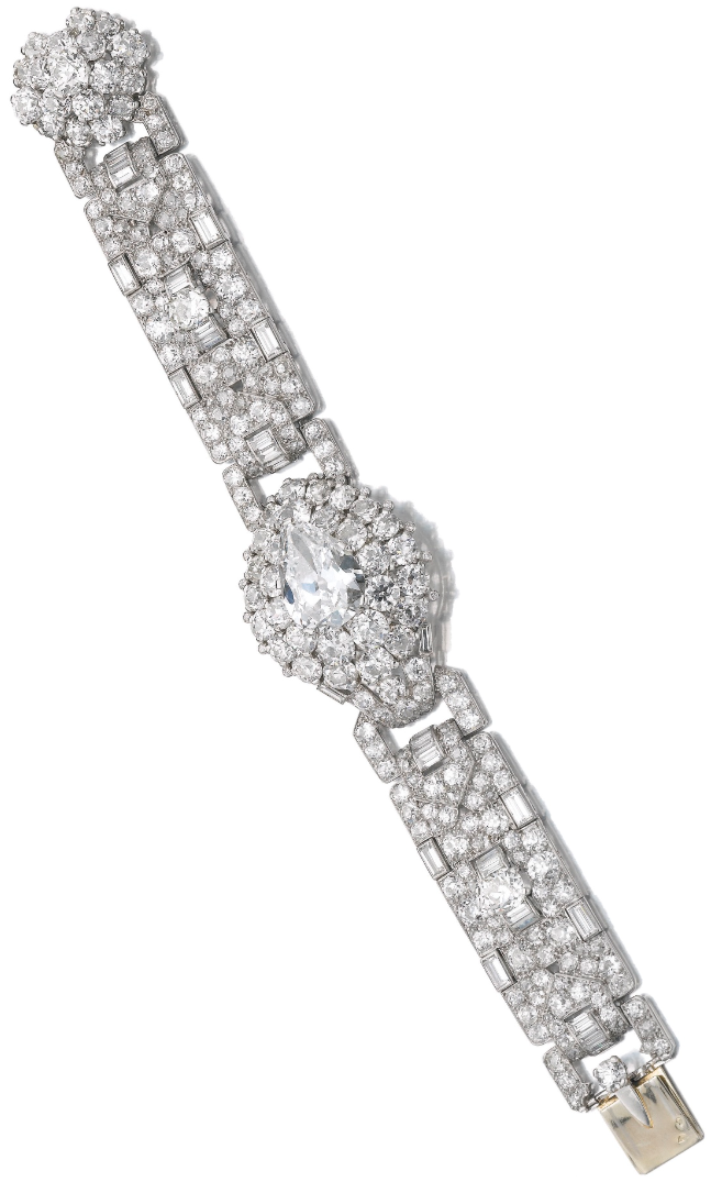 Important Art Deco diamond bracelet, Cartier, circa 1935.