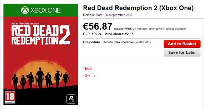 Red Dead Redemption 2 apunta para lanzarse el 26 de septiembre