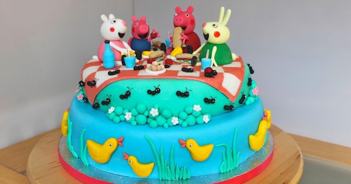 Peppa Pig Birthday Cake Decorations