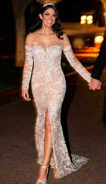 Nicole Phelps vestido de noiva